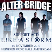 Concerttip: Alter Bridge in  Heineken Music Hall