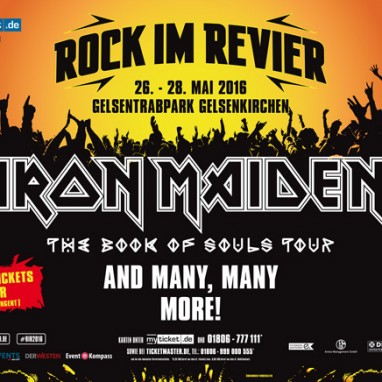 Duofestivals Rock Im Revier en Rockavaria lossen namen (o.a. Iron Maiden, Slayer en Nightwish)