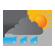bewolkt en zware regenbuien