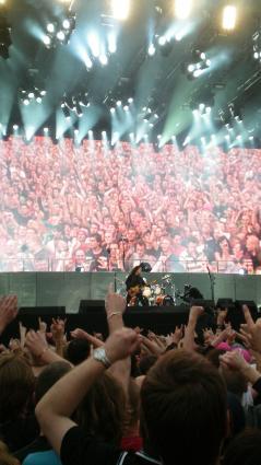 Pinkpop 2008 gebruiker foto - 37 Rage Against The Machine demonstreerd