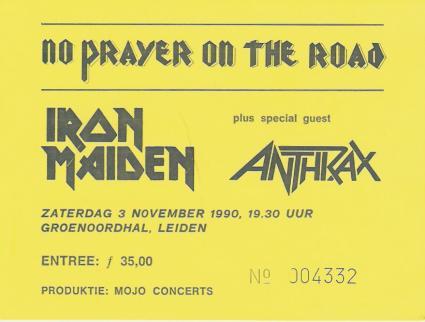 Iron Maiden Groenoordhallen gebruiker foto - Iron Maiden (Leiden 3 november 1990)