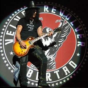 Velvet Revolver Heineken Music Hall gebruiker foto - Slash spotlight
